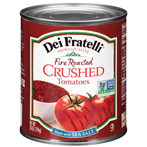 Dei Fratelli Fire Roasted Crushed Tomatoes - All Natural - No Water Added - Never from Tomato Paste - 5th Generation Recipe (28 oz. cans; 6 pack) - Fire Roasted Crushed Tomatoes