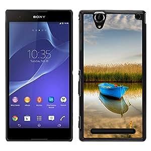"""For Sony Xperia T2 Ultra , S-type Naturaleza Barco"""" - Arte & diseño plástico duro Fundas Cover Cubre Hard Case Cover"""