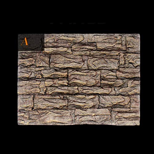 SHJNHAN 3D Foam Rock Reptile Stone Aquarium Background Backdrop, Fish Tank Board Decor (A)