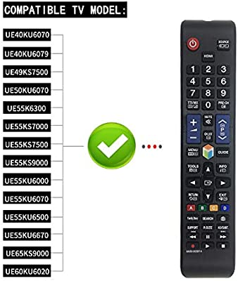 MOONN Nuevo Reemplazo Samsung AA59-00581A Control Remoto para ...