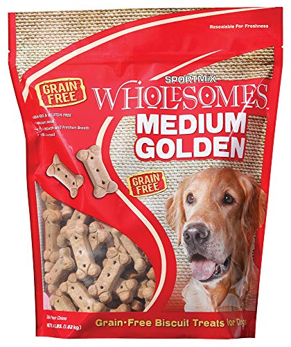 Sportmix Wholesomes Medium Golden Grain Free Dog Treats, 4 -