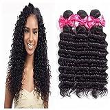 Brazilian Human Hair Deep wave 3Bundles 20 22 24inch 7A Silky Virgin Hair Extensions Weaves