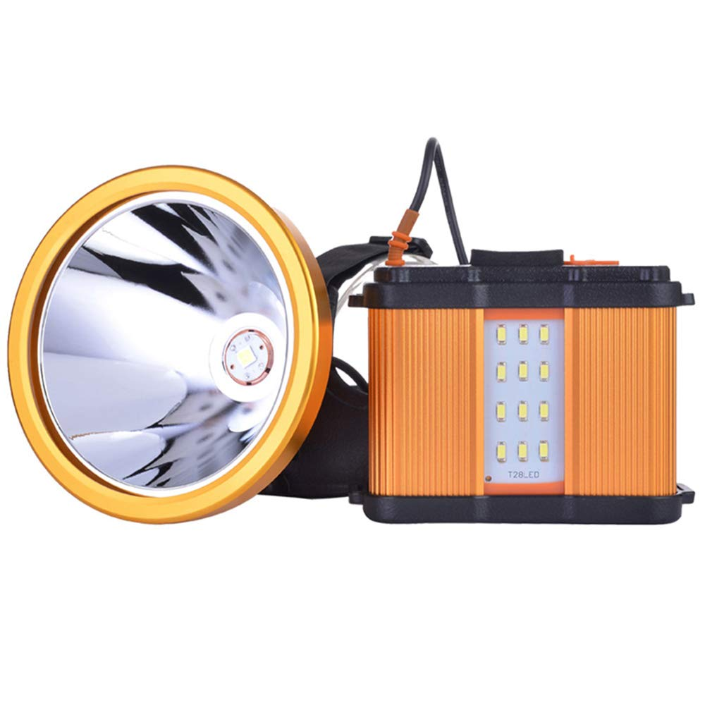 XPH70 Led Headlamp With A Dazzling Super Lithium Ion Battery Pack Stepless Adjusted Headlight For Long Distance Illumination and Super Long Shooting Time for Hunting Camping Hiking Outdoor (Gold)