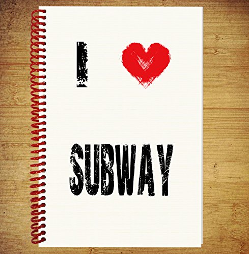 AKGifts A5 Notebook / Drawing Pad Diary Thoughts Ideas Plans - I Love Subway (7 - 10 BUSINESS DAYS DELIVERY FROM (Halloween Main Course Dishes)