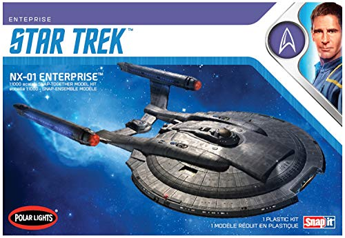 Polar Lights Star Trek NX-01 Enterprise (Snap) Plastic Model Kit Round 2
