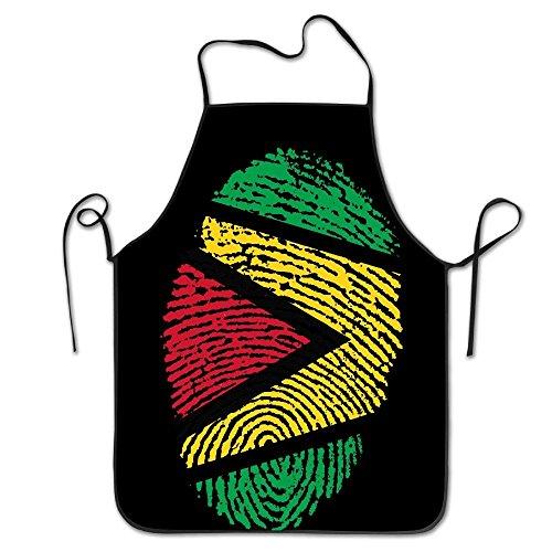 WEIQUN Guyana Flag Ideas Only On Pinterest Women Men Kitchen Bib Apron Flower Shop Manicure Store With Adjustable Neck Chef's Apron