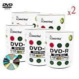 Smartbuy 4.7gb/120min 16x DVD-R Shiny Silver Blank Data Video Recordable Media Disc (1000-Disc)