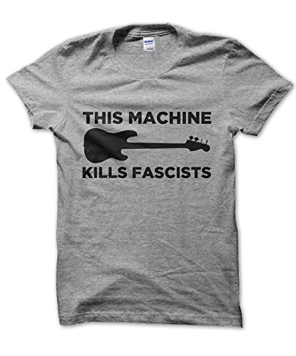 This Machine Kills Fascists T-shirt (GREY, XL) (This Machine Kills compare prices)
