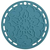 """Le Creuset Silicone French Trivet, 8"""" , Caribbean"""