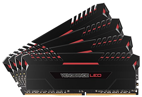 Corsair Vengeance 4-Pack 8GB PC4-21300 DDR4 DIMM Unbuffered Non-ECC Desktop Memory Kit Black CMU32GX4M4A2666C16R