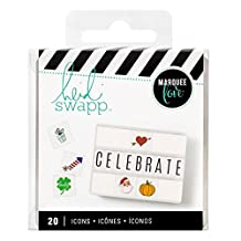 American Crafts Heidi Swapp Lightbox Icon Inserts Holiday 20 Piece