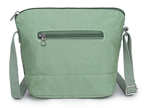 body Elephant Design and for Bag Shoulder Girls Cross Green Canvas Crest Whimsical Teenagers RIdxw6Rq7