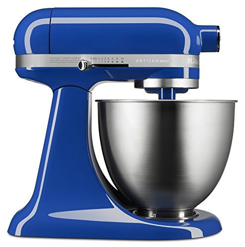 KitchenAid KSM3311XTB Artisan Mini Series Tilt-Head Stand Mixer, 3.5 quart, Twilight Blue (Kitchenaid Stand Mixer Blue)