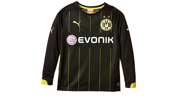 Puma BVB - Camiseta de fútbol para niño (manga larga, del equipo Borussia Dortmund) negro negro/amarillo Talla:176: Amazon.es: Deportes y aire libre