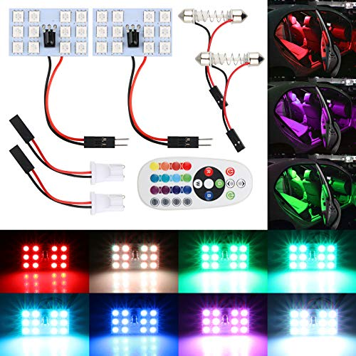 EEEKit 2-Pack RGB 5050 12SMD LED Car Interior Panel for sale  Delivered anywhere in USA