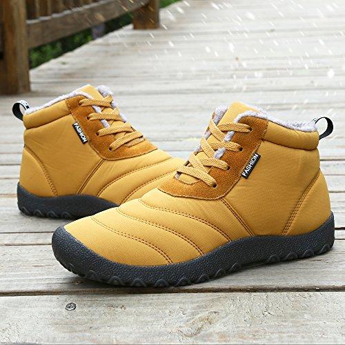 Homme Jaune pour Femme Chaussures Boots SAGUARO Bottines Hiver qfw11F