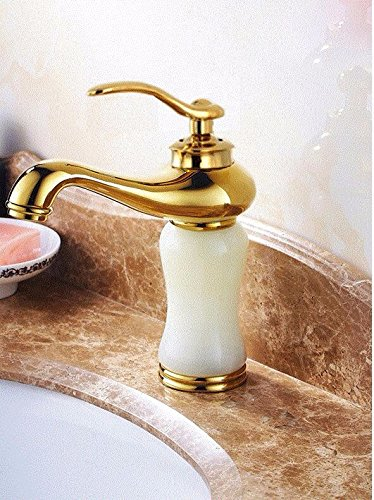 AWXJX Washbasin Hot And Cold Jade Single Hole Single Handle Blender Bathroom Copper Sink Taps by AWXJX Sink faucet