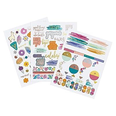 Erin Condren Designer Sticker Pack - Motivation & Celebration Sticker Pack Trio Includes 3 Sticker Sheets, 100+ Stickers: Office Products