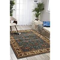 Nourison Persian Arts (BD05) Light Blue Runner Area Rug, 2-Feet 3-Inches by 12-Feet  (23 x 12)