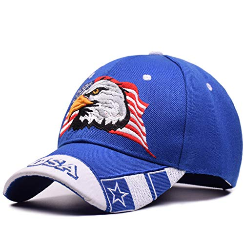 USA Patriotic American Eagle Hat & Texas State Embroidery Hat Adjustable Baseball Cap - Eagle Hat American