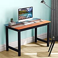 LITTLE TREE Solid Wood Writing Desk with Four-Color Finish, 47 Farmhouse Country Desk Works as Laptop Study Table Workstation for Home Garden (colorful table)