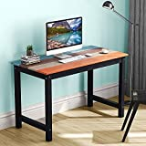 LITTLE TREE Solid Wood Writing Desk with Four-Color Finish, 47'' Farmhouse Country Desk Works as Laptop Study Table Workstation for Home Garden (colorful table)