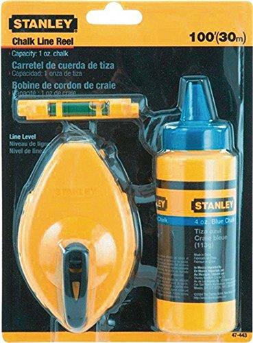 Schlagschnur-Set Schnur-L.30mmit blauer Kreide Schnurwasserwaage Stanley
