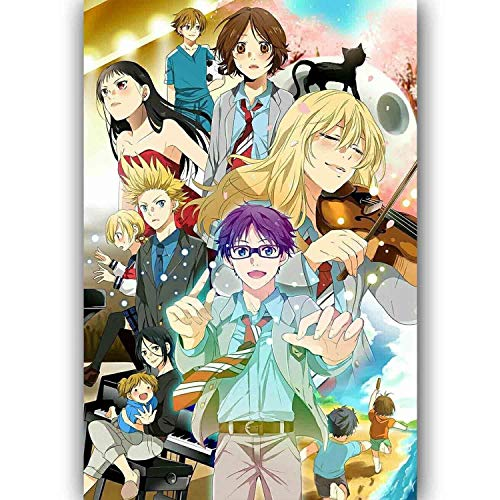 SAVA 63953 New Your Lie in April Cartoon Anime Decor Wall 24x18 Poster Print