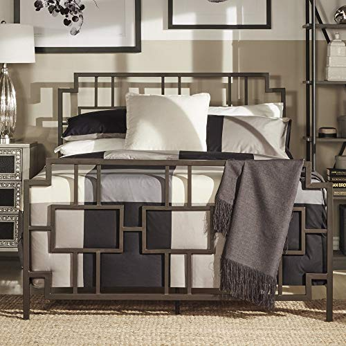 (Inspire Q Bordeaux Window Geometric Metal Bed by Classic)
