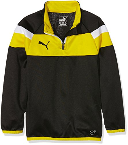 T Enfant Pour Puma Spirit D'entraînement À Yellow Zippée shirt Au Black top Col Manches Fermeture Longues cyber Ii AAEfzvwrq