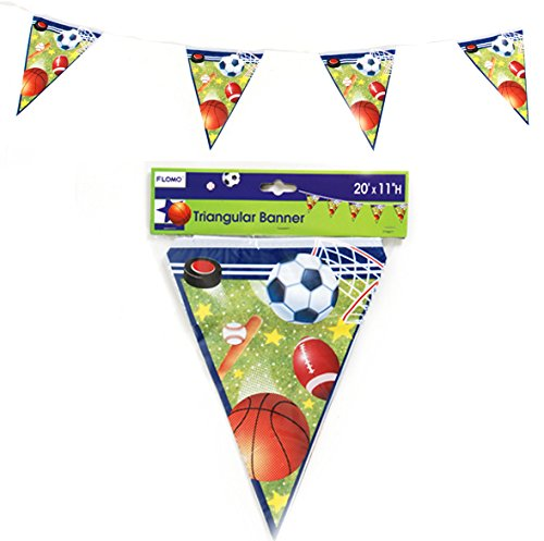 DDI 1902073 All Star Sports Printed Triangular Banner (8 count) Case of 36