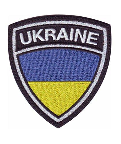 MAREL Patch Flag Bandiera Ucraina Toppa termoadesiva Embroidery Ricamo 6,5 x 5,5-1453