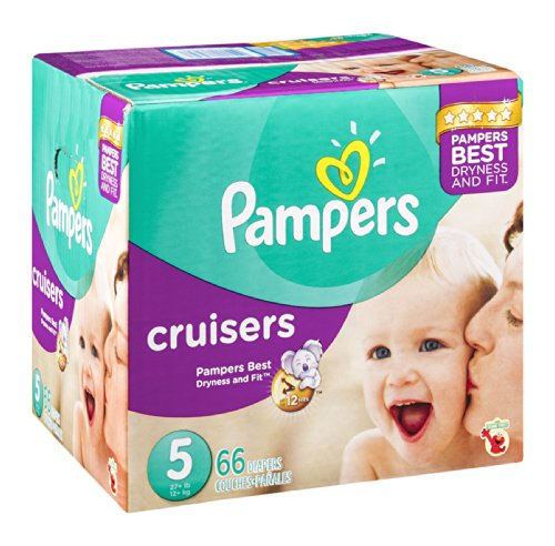 Pampers Cruisers Size 5 Sesame Street Diapers - 66 CT 66 CT (Pack of 6) by Pampers