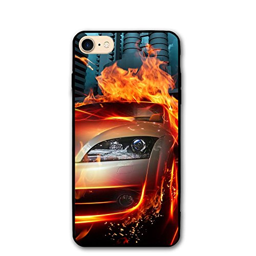 4.7 Inch Iphone 8 Case Car 3D Cool Images Anti-Scratch Shock Proof Hard PC Protective Case Cover