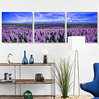 3 Panel Romantic Lavender Pictures Home Wall for...24