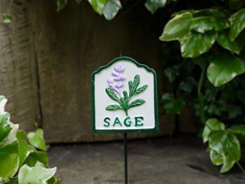Alta calidad pintada a mano cartel de jardín de hierbas - Sage ...