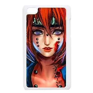 iPod Touch 4 Case White Naruto Custom DSANSAVDH3292