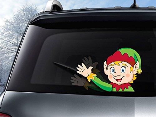 WiperTags Eddie The Elf Winter Waving Decal