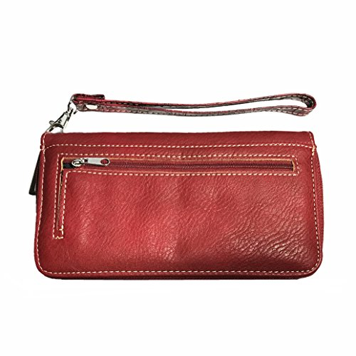 Handbag Colors Wallet Concealed 3 Cross Red with Style Flowers Carry Matching in Rhinestone ZASXwqaPxn