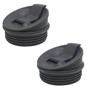 Grey 2 Pack Sip & Seal Lid Fit for Nutri Ninja blender series with BL660/BL663/BL663CO/BL665Q/BL771/BL773CO/BL810/BL820/BL830/QB3000/QB3000SSW/QB3004/QB3005