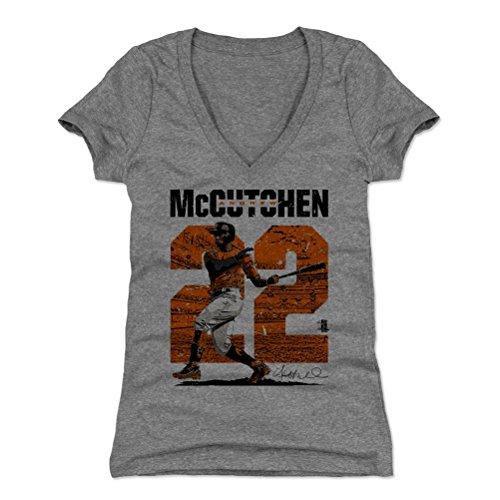 500 Level Andrew Mccutchen Womens V Neck Shirt Xx Large Tri Gray   San Francisco Baseball Womens Apparel   Andrew Mccutchen Stadium O