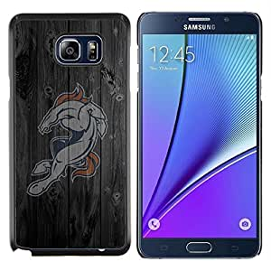 EJOOY---Cubierta de la caja de protección para la piel dura ** Samsung Galaxy Note 5 5th N9200 ** --Caballo Equipo deportivo