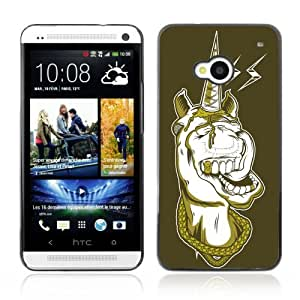YOYOSHOP [Funny Gangsta Unicorn ] HTC One M7 Case