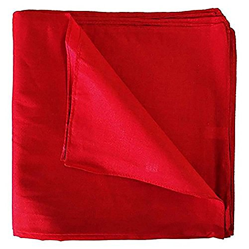 Set of 3 Solid 100% Polyester Unisex Bandanas Red 22 in