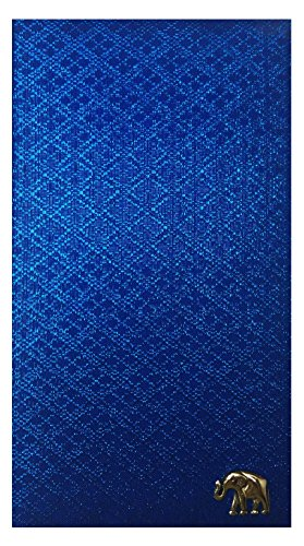 Indigo Fabric Waitstaff Organizer Guest Check Presenter, Check Book Holder for Restaurant, Checkbook Cover, Server Book for Waiters with Money Pocket (With Plastic Covers) by Kathy