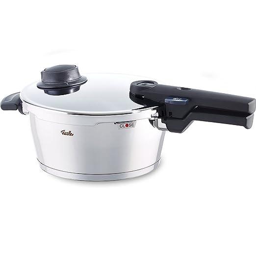 Fissler Vitavit Comfort Olla a presión, 18 cm, Para todo tipo de cocinas, 2.5 litros, Acero Inoxidable, Plateado