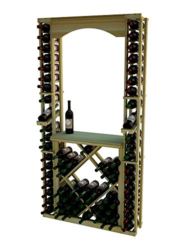 Wine Cellar Innovations RP-LI-ARCHDIAMDSKIT-A3 Traditional Series Tasting Center Bundle Archway, Tabletop, Individuals with Open Diamond Bin Wine Rack, Rustic Pine, Light Stain