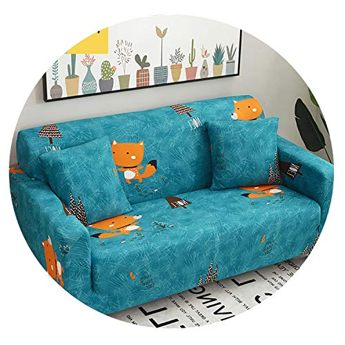 Sprint-Love Cute Duck Pattern Sofa Cover Elastic Sofa Slipcover Cubre Sofa Stretch Furniture Covers Protector Sofa Covers for Living Room,10,1 Seater