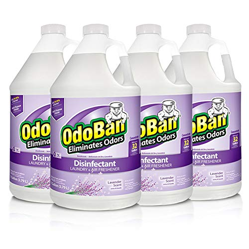OdoBan Multipurpose Cleaner Concentrate, 4 Gallons, Lavender Scent – Odor Eliminator, Disinfectant, Flood Fire Water…