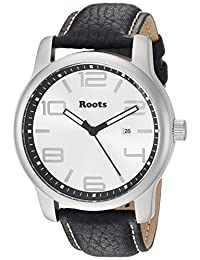 Roots Men's 'Core' Quartz Stainless Steel and Leather Casual Watch, Color:Blue (Model: 1R-LF420SI2U)